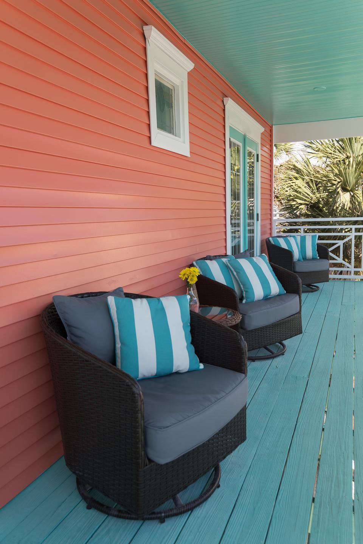 The ocean view porch.