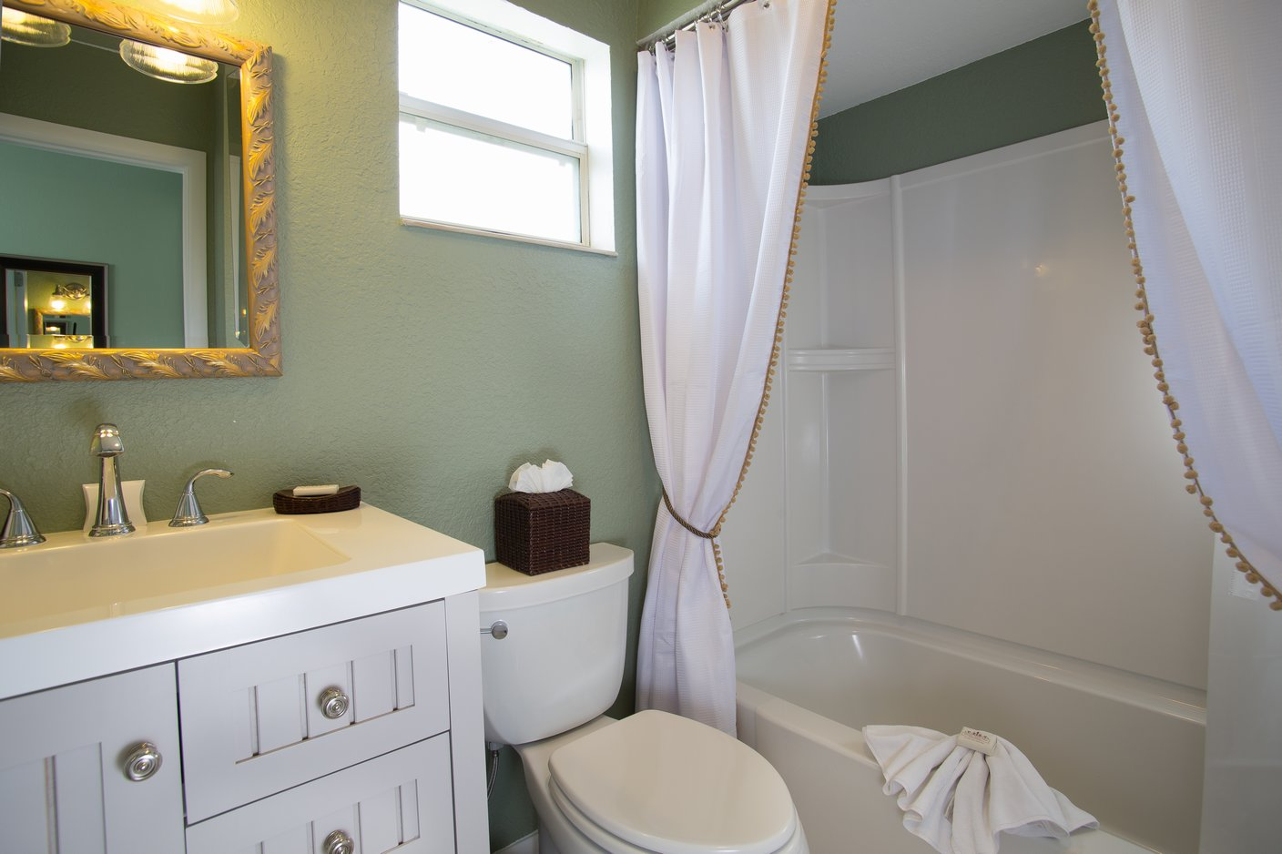 fascinating bathroom ocean view | The Oceanview Cottage | Beach Comber of Vilano